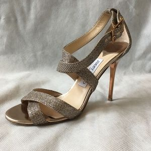 Gold Vamp Pumps
